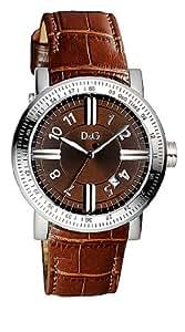 Dolce & Gabbana - DW0484 - Montre Homme - Quartz Analogique - Bracelet en Cuir Marron