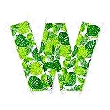 Amilian® Bettumrandung für Kinderbett Baby Nest Kopfschutz Nestchen Bettnestchen Baby Kantenschutz (Blätter Grün, 420cm (für das Babybett 140x70cm- rundherum))