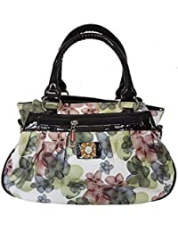 Meraki Creation PU Leather Women's Flower Print Handbag (MERAKI-002_Multi-Coloured)