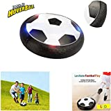Air Football Games Hover Ball Toys Novelty Gifts Light Up Hover Football, Hover Soccer Disc Indoor Outdoor Sports Games with Soft Foam Bumpers Safe, Birthday Novelties for Kids Childrens Teens Boys.