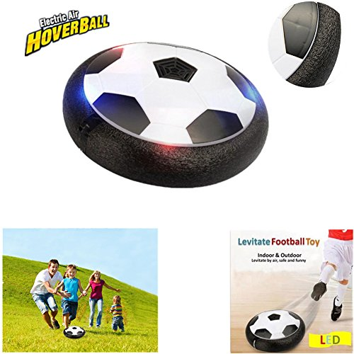 Air Football Games Hover Ball Toys Novelty Gifts Light Up Ball, Hover Soccer Disk Indoor Outdoor Sports Games with Soft Foam Bumpers Safe to Kids Teens Birthday Novelties Presents.