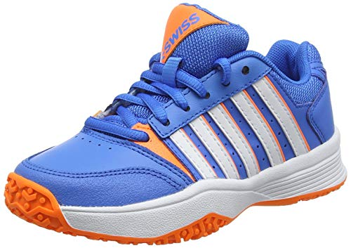 K-Swiss Performance Unisex-Kinder Court Smash Omni Tennisschuhe Blau (Brilliant Blue/Neon Orange/White 428M) 35 EU