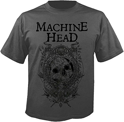 Machine Head catharsis - Clock - T-Shirt Größe XXL (Unisex-bands Head)