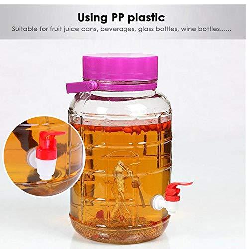 TOSSPER rotes Glas Wein/Bier/Getränkeflasche Plastikwasserhahn Bierbrauen Werkzeug Kitchen Barzubehör (Kunststoff-wein-gläser Farbe Rot)