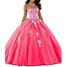 ANJURUISI Mujeres Sweetheart encaje vestido de bola de tul Tulle vestido Quinceanera