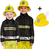 Blue Planet Fancy Dress ® 3-9 Childrens Kids Boys Fireman Fire Fighter Fancy Dress Costume & Helmet