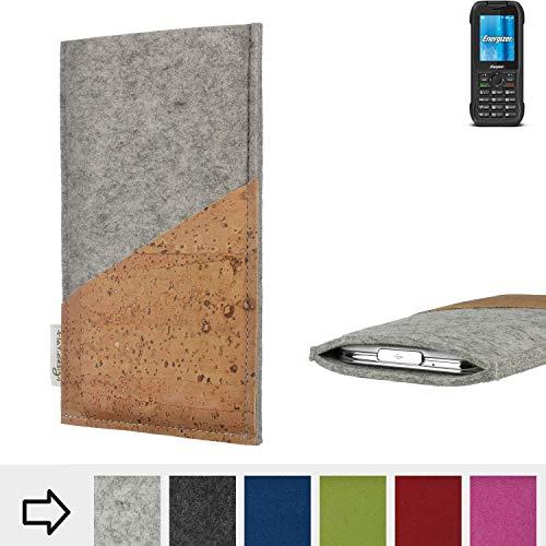 flat.design Handy Hülle Evora für Energizer H240S Schutz Tasche Kartenfach Kork passgenau handgefertigt fair