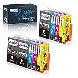 OfficeWorld Kompatible Patronen Ersatz für HP 920XL Druckerpatronen Hohe Kapazität Kompatibel mit HP Officejet 6500 6000 7000 7500 Drucker (3 Schwarz, 2 Cyan, 2 Magenta, 2 Gelb)