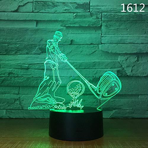 Joeiy Golf 3D Nachtlicht Illusion LED Nachtleuchte Optische Visuelle Täuschung USB Lampe Nachttischlampe Acryl baby kinder kinderzimmer Schlafzimmer Geburtstag Parteien Weihnachten Dekor