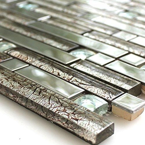 Mosaik Fliesen Silber