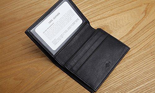 Tasche Leder für Männer geprägte Zertifikat Lizenz set der Männer Leder klein Wallet card Paket Paket Lizenz., schwarz Black