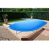 GRASEKAMP Qualit/ät seit 1972 Abdeckplane f/ür Pool oval 625x360cm Planenma/ß 700x440cm Sommer Winter