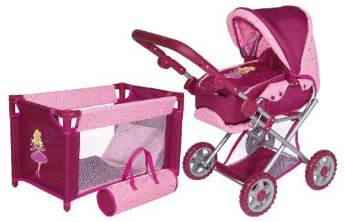 Imagen 6 de Bayer Design 13996S - Set de cuna y cochecito de paseo para muñecas