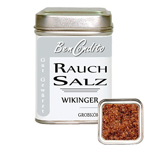 BenCondito - Wikinger Rauchsalz - über Buchenholz geräuchertes Salz 150g Dose
