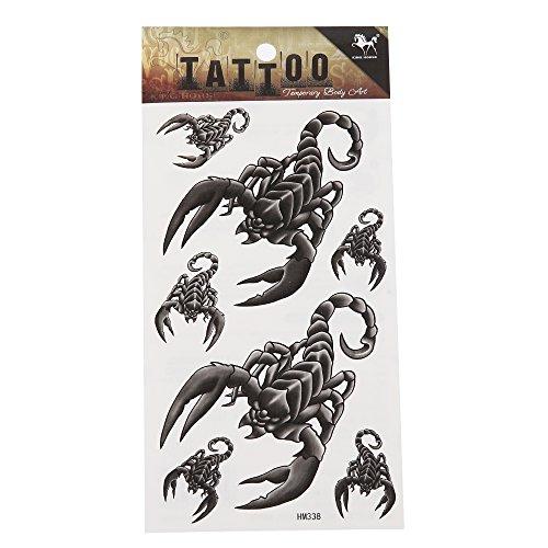 Preisvergleich Produktbild Klebetattoo Skorpione grau schwarz diverse Größen 7 Motive 1 Bogen