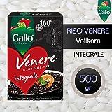 RISO VENERE Integrale (Venus Vollkorn) Gallo -Schwarzer Risotto Reis aus Piemont- (500 gr)