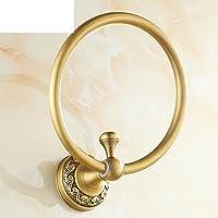 Pieno di anello di tovagliolo rame antico/Bagno europea del pendente parete metallica/Retro anello del tovagliolo