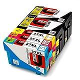 JETSIR Kompatibel Druckerpatronen Ersatz für Epson 27XL, Hohe Ergiebigkeit Kompatibel Mit Epson Workforce WF-3640 3620 7610 7110 7620 Drucker (2 Schwarz, 1 Cyan, 1 Magenta, 1 Gelb)
