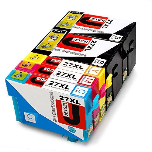 JETSIR Kompatibel Druckerpatronen Ersatz für Epson 27XL, Hohe Ergiebigkeit Kompatibel Mit Epson...