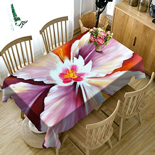 ZBGCD Tischwäsche 3D Gedruckt Tischdecke Couchtisch Esstisch Staubschutz Blumenmuster Tischdecke