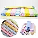 Asciugamano da bagno da bambino, set 8PCS morbido cotone riutilizzabile bagnetto salvietta per bambino asciugamano viso set