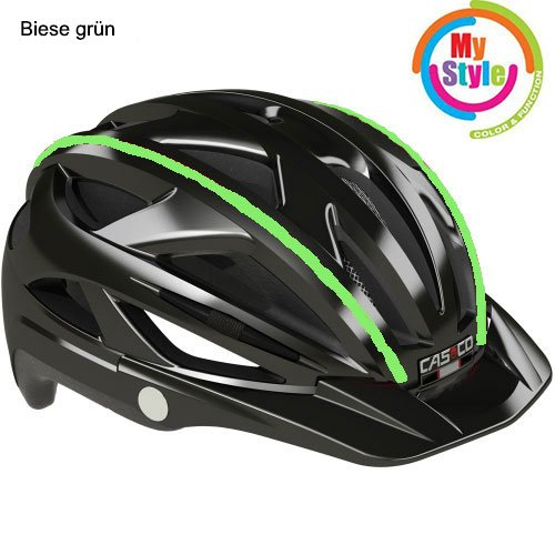 Casco Activ-TC schwarz Biese grün, Fahrradhelm, MTB Helm, Cityhelm (schwarz Biese grün, M (52-58))