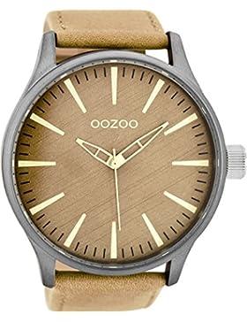 Oozoo Herrenuhr mit Lederband 50 MM Sand/Sand C7860