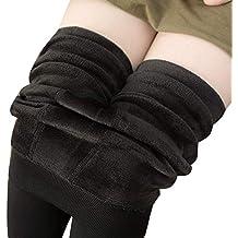 GladiolusA Femme Taille Haute Hiver Super Épais Chaud en Velours Extensible Collants  Leggings Pantalon e3f2376586e