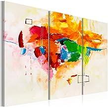 murando Cuadro pintado a mano -100% pintados a mano – fotos directamente del artista - pintura - pinturas de paredes modernas - disenos únicos e irrepetibles – cuadro en lienzo - tríptico 3 partes - abstracción - 93524 - 120x80 cm