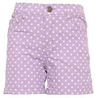 Ko Ko Ailis Little Girls Purple White Polka Dotted High Waisted Shorts 6X