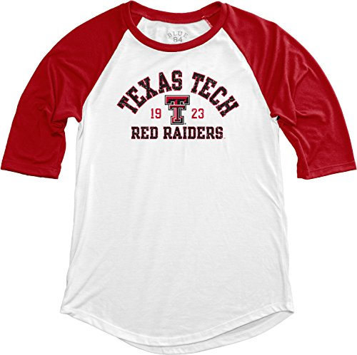 Blue 84 NCAA Texas Tech Red Raiders NCAA Damen Baseball-T-Shirt, Größe M, Rot -