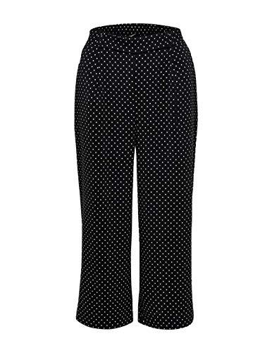 ONLY Damen onlLIMA Culottes WVN Hose, Mehrfarbig (Black AOP: Small Dots), W(Herstellergröße: 36) Dot Bootcut-hose