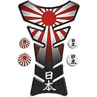 Motoking tanque pad compatible ETIQUETAS 3D-ETIQUETA '' bandera de Japón'''- tanque de la motocicleta y la protección de la pintura universal