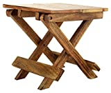 #8: Woodenclave Portable Folding Wooden Stool