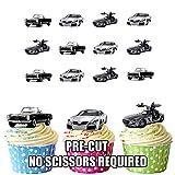 Mercedes-Benz Auto Mix Kuchen Dekorationen–12Esspapier Cup Cake Topper