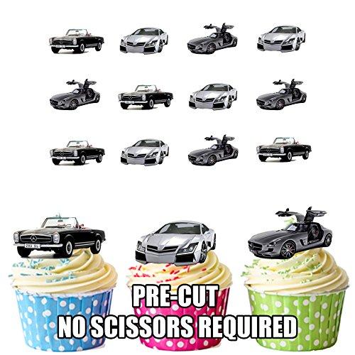 Mercedes-Benz Auto Mix Kuchen Dekorationen-12Esspapier Cup Cake Topper