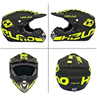WZFC Motocross Motorradhelm Downhill Fullface Helm Cross DH Enduro Quad Mountainbike BMX MTB Helm Für Kinder/Erwachsener (Model-H),M