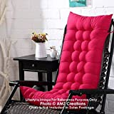 AMZ Premium Microfibre Soft Home Cotton Cushion Long Chair Pad Cushion for Indoor/Outdoor Dining Home Garden Decor (Red,48 x 16 inches,Set of 1)
