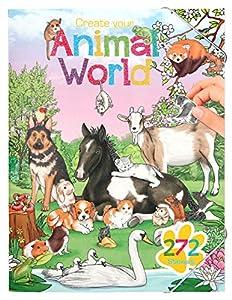 Top Model Create Your Animal World Colouring Book (0010471), Multicolor (DEPESCHE 1)