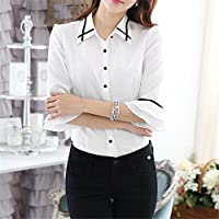 TAIDUJUEDINGYIQIE Camiseta de Manga Corta para Mujer, Color sólido, Formal, Blanco, 2XL