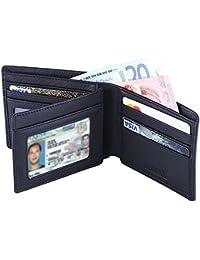 Hoobest RFID Blocking Genuine Leather Wallet for Men - Excellent as Travel Credit Card Case/Wallets/Protector - RFID Blocking Wallet