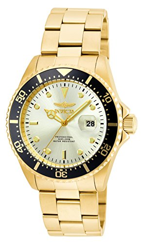Invicta 22065 Pro Diver  Men's Wrist Watch Stainless Steel Quartz Champagne Dial