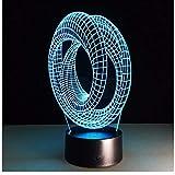 Illusione ottica magica 3D Lampada umore Lampada da tavolo USB Lampada decorativa Lampadina a spirale Illusione Luminaria Art Deco Regalo 3D astratto LED