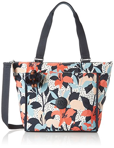 kipling-new-shopper-s-borse-tote-donna-mehrfarbig-pastel-lily-one-size