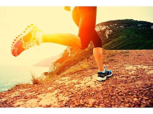 Oedim Fototapete Wand Fitness-Studios Rúnning Bergsee | Verschiedene Maße 350x250 cm | Dekor Esszimmer, Wohnzimmer, Zimmer - 250 Fitness-studio