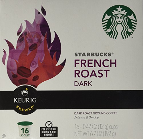 Starbucks French Roast Dark K-Cups for Keurig Brewers, 16 Count Box