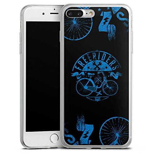 Apple iPhone 8 Slim Case Silikon Hülle Schutzhülle Fahrrad Freiheit Spruch Silikon Slim Case transparent