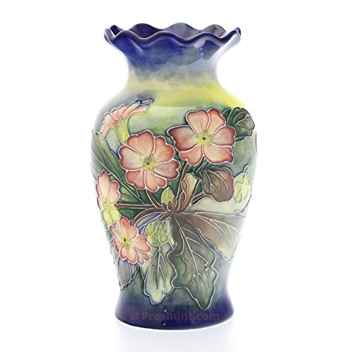 Old Tupton Ware - Pansy Design - Fluted Vase (Plain Box)