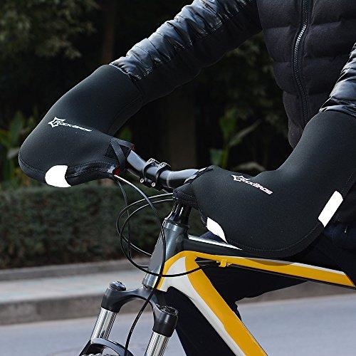 Docooler 1 Paar Lenkerhandschuhe/Radsport Handschuhe/Fahrrad Lenker Handschuhe Handwärmer Handabdeckungen Für MTB/Motor/Fahrrad, Dicke: 6mm/Wasserabweisendes Material - 2
