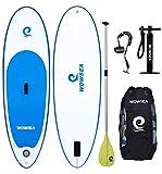 WOWSEA Tabla Inflatable Paddle para Surf, Paddle Board Hinchable para Adolescentes y Niños con Tamaño de 223 * 68 * 15cm, Carga hasta 80kg
